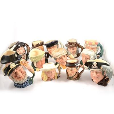 Lot 36 - Thirteen Royal Doulton character jugs