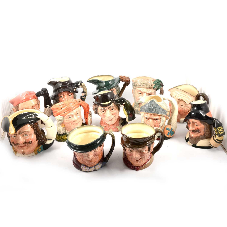 Lot 47 - Twelve Royal Doulton character jugs.