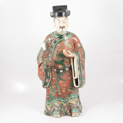 Lot 70 - Large Chinese porcelain model of a sage