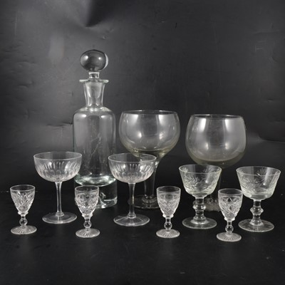 Lot 61 - A collection of table glass, four boxes including a set of six large goblets
