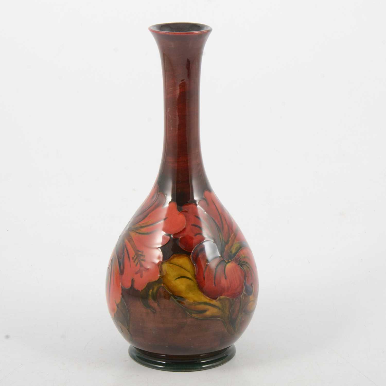 Lot 11 - Walter Moorcroft for Moorcroft Pottery, flambe Hibiscus vase