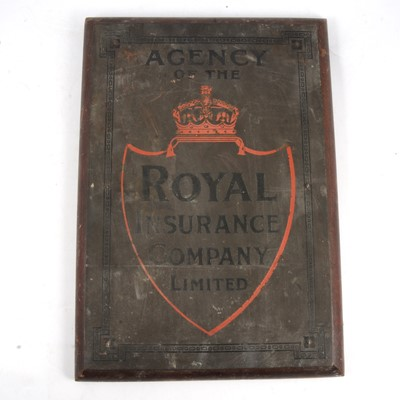 Lot 115A - Royal Insurance Company Limited agency plaque
