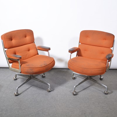 Lot 1081 - Charles and Ray Eames for Herman Miller, two armchairs, model ES104, 1970s