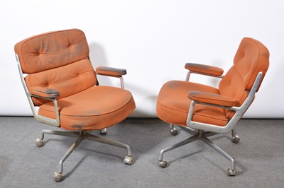 Lot 1080 - Charles and Ray Eames for Herman MIller, two armchairs, model ES104, 1970s