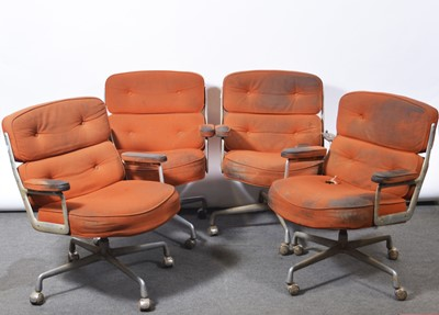 Lot 1082 - Charles and Ray Eames for Herman Miller, four armchairs, model ES104, 1970s