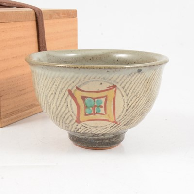 Lot 1046 - Shimaoka Tatsuzo, a stoneware teabowl; and another Korean teacup
