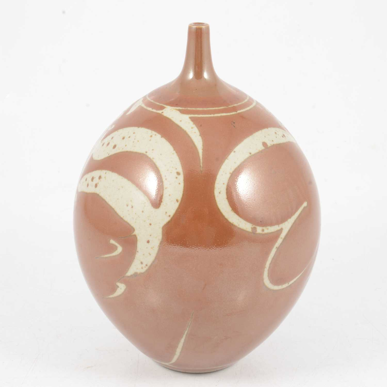 Lot 1040 - Derek Clarkson, a stoneware vase