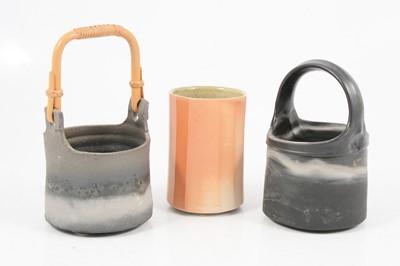 Lot 1042 - Byron Temple, two stoneware vessels and a salt-glazed vessel