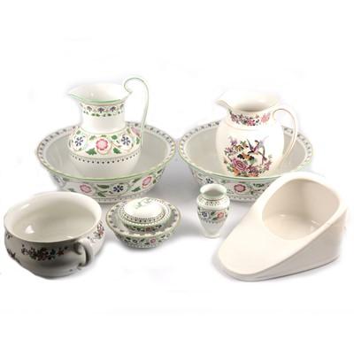 Lot 93 - Adderleys Ltd 'Persian' pattern wash set, and other ceramics.
