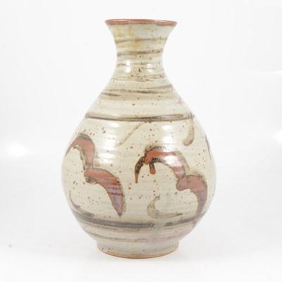 Lot 1035 - Large studio pottery stoneware vase, potter unidentifed