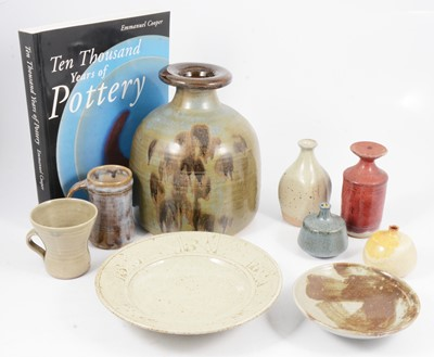 Lot 1036 - A collection of nine studio pottery items