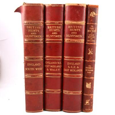 Lot 108 - British Hunts and Huntsmen, 3 volumes, and de Trafford, Sir Humphrey F., The Fox Hounds of Great Britain & Ireland.