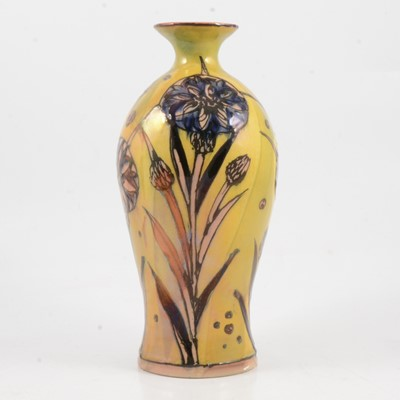 Lot 5 - Jonathan Cox, a 'Lustre Nouveau Cornflower' vase.