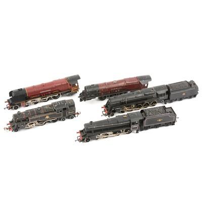 Lot 65 - OO gauge model railway locomotives; five including Hornby Black 5, 4-6-0, 45158 etc