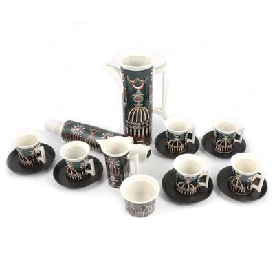 Lot 58 - Portmeirion Magic City coffee set