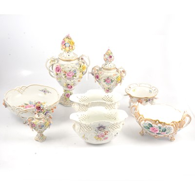 Lot 79 - Potpourri vases and other ornamental china