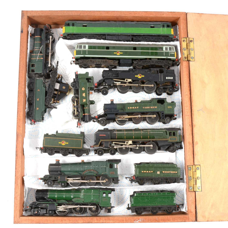 Lot 23 - Nine TT gauge model railway locomotives & loose motor.