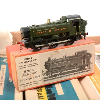 Lot 62 - OO gauge model kits; including Wills 'Finecast' GWR 9400, (built and painted)