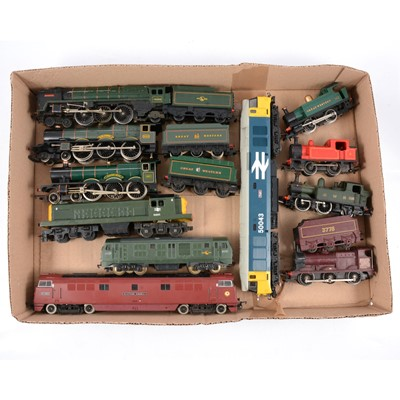 Lot 37 - Eleven OO gauge model railway locomotives including Lima class 50 diesel etc