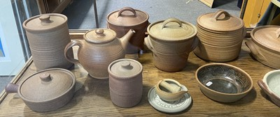 Lot 90 - Collection of Muchelney studio pottery table ware
