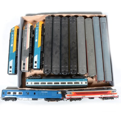 Lot 77 - Three Hornby OO gauge model railway Inter-city diesel locomotives and passenger coaches. etc