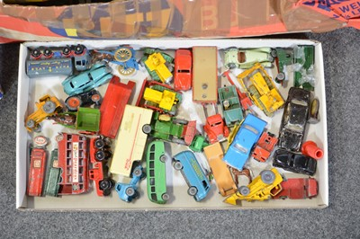 Lot 31 - A trunk of model railways and Matchbox models.
