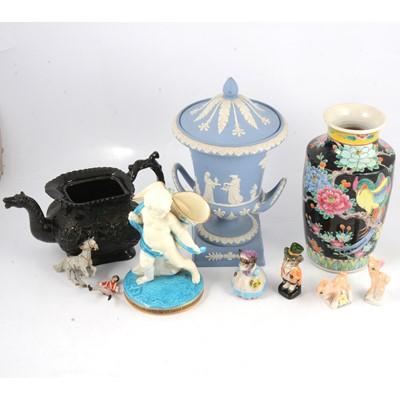Lot 67 - Wedgwood jasperware vase and other ceramics