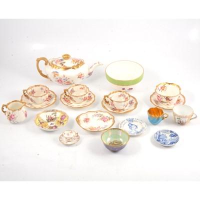 Lot 54 - Quantity of decorative ceramics, including Stevenson & Hancock, and Wedgwood, Hammersley