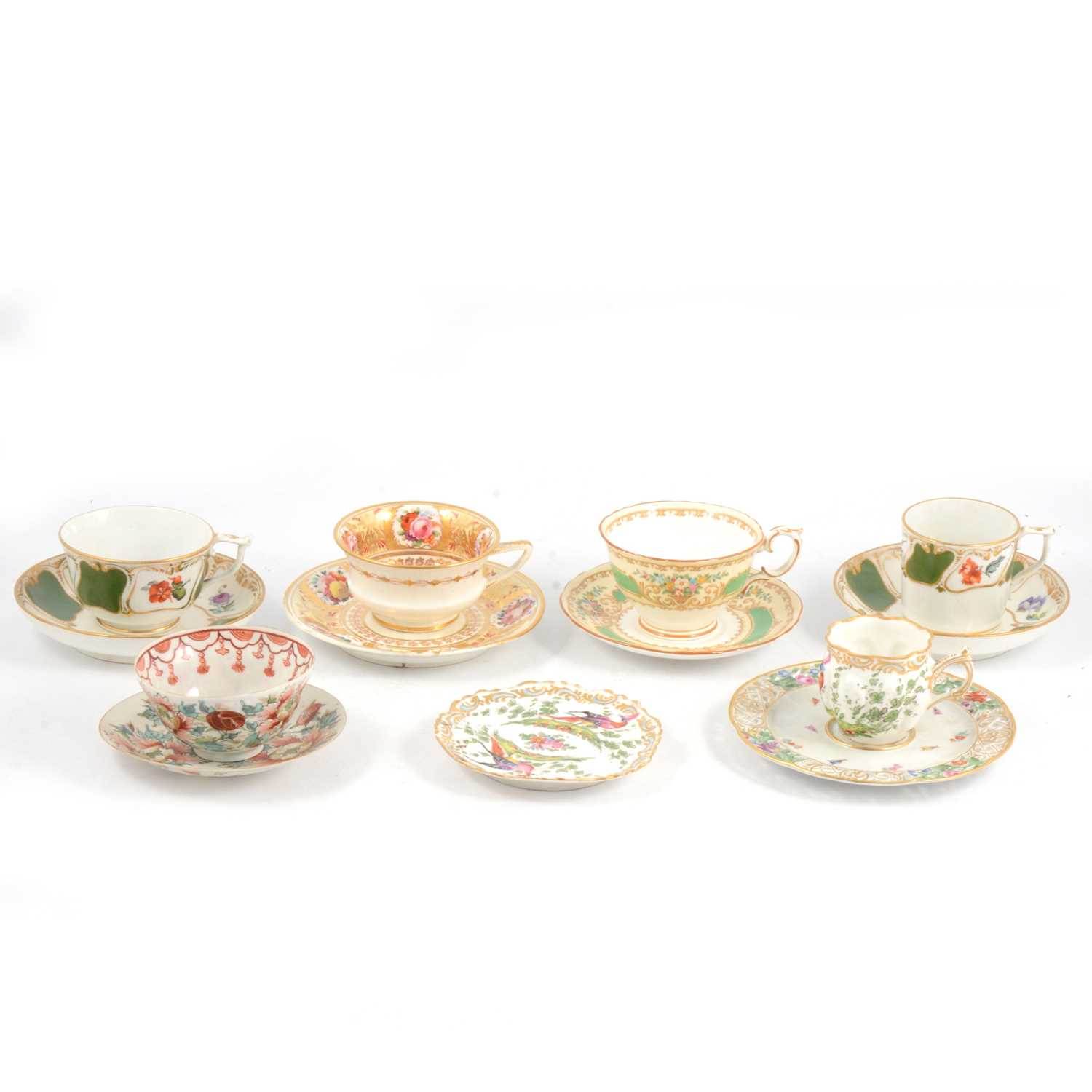 Lot 43 - Quantity of decorative cabinet cups and saucers