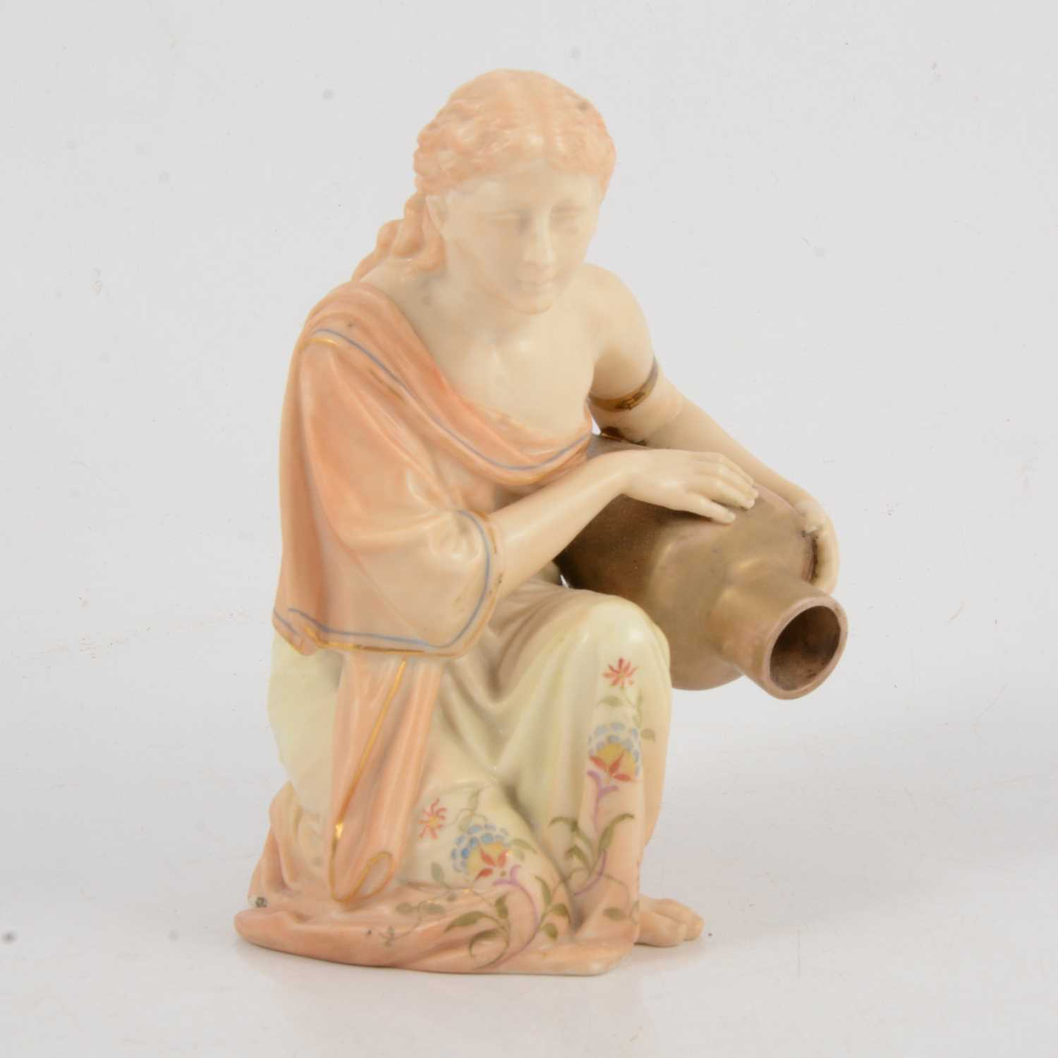 Lot 13 - Royal Worcester model of an ancient Greek lady with amphora