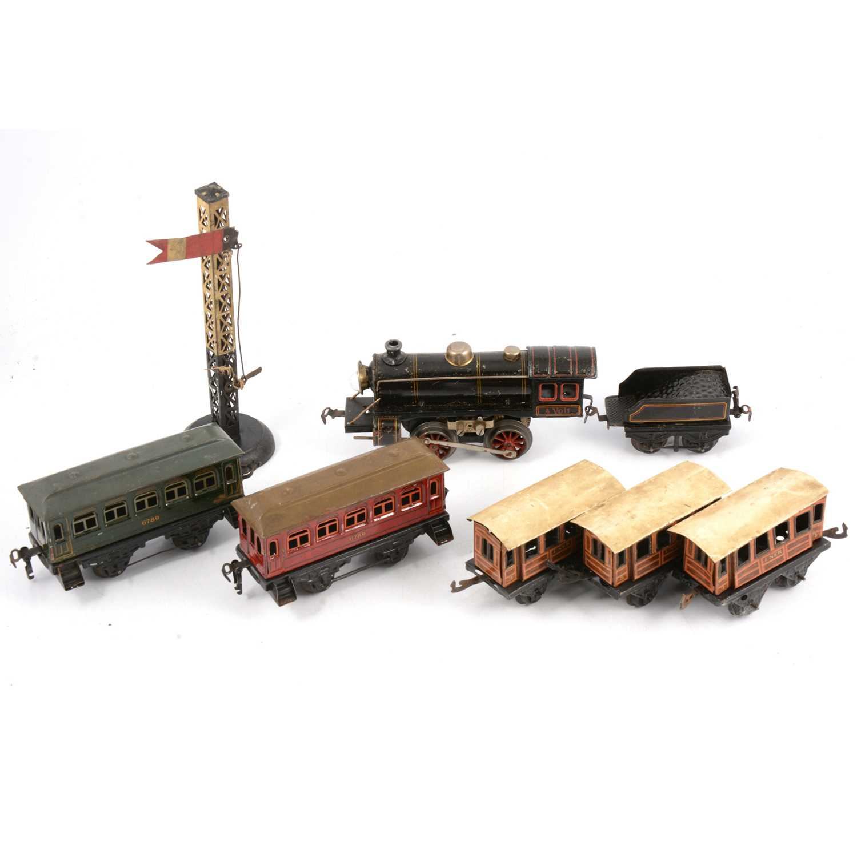 Lot 13 - Kraus Fandor JK Co locomotive and coaches, Bing etc.