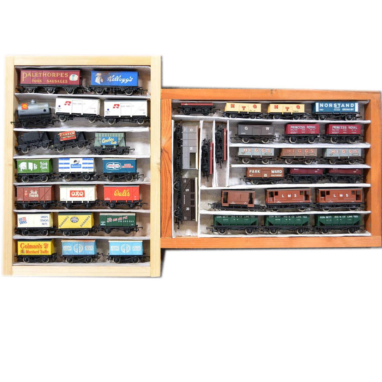 Lot 46 - Fourty-three OO gauge model railway wagons and advertising vans